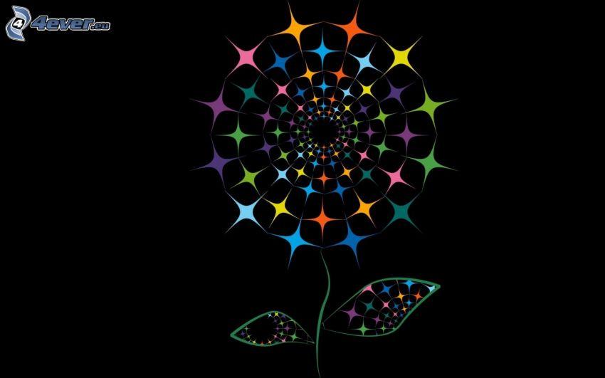 flores abstractas, colores