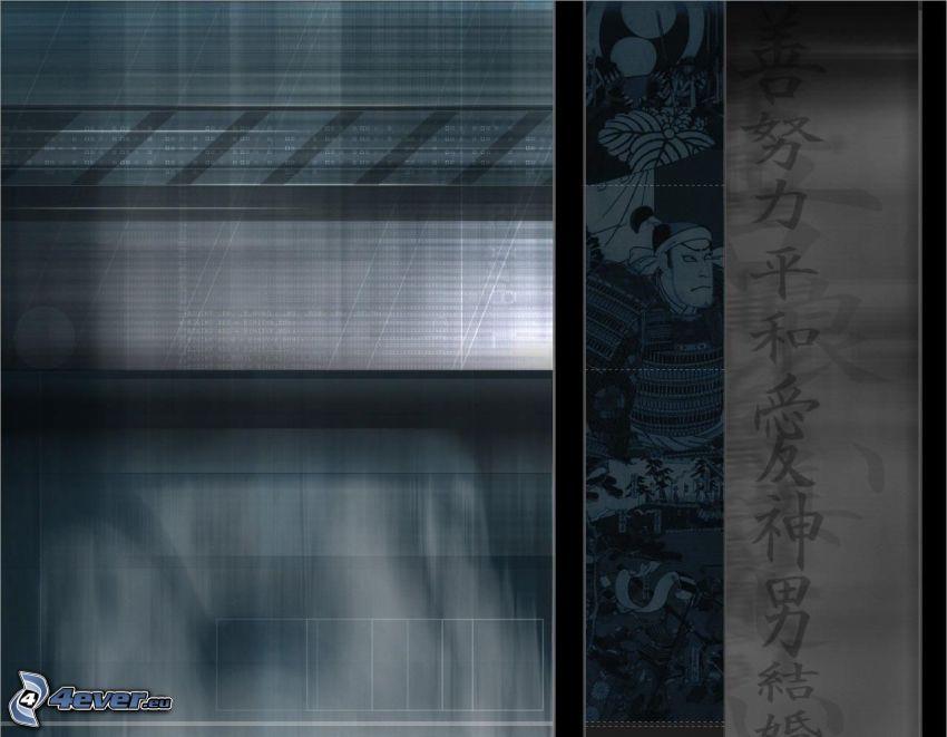 fondo, caracteres chinos