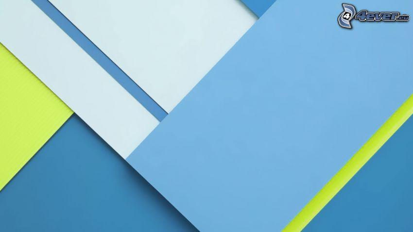 fondo azul, rectángulos abstractos