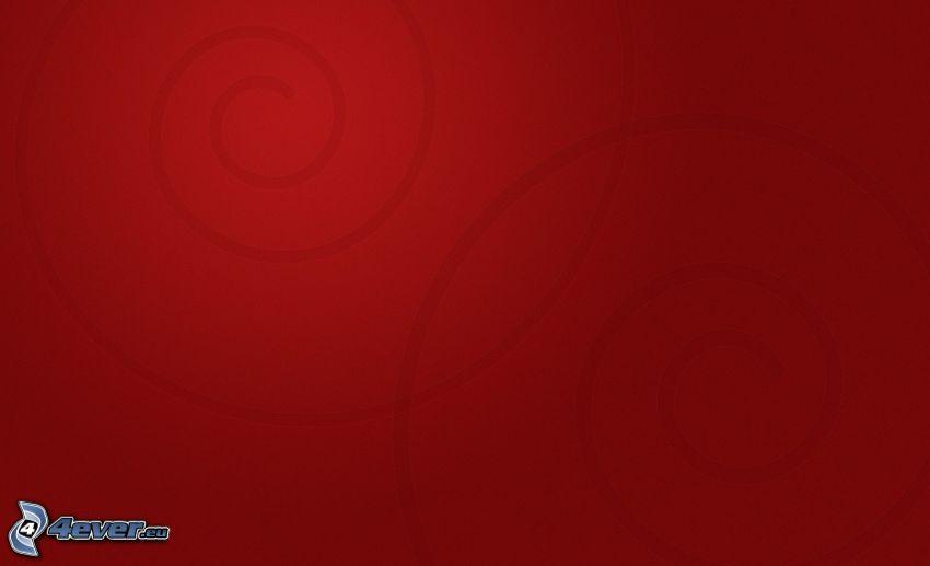 fondo rojo, espiral