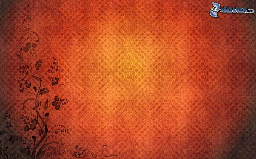 fondo rojo, flores digitales