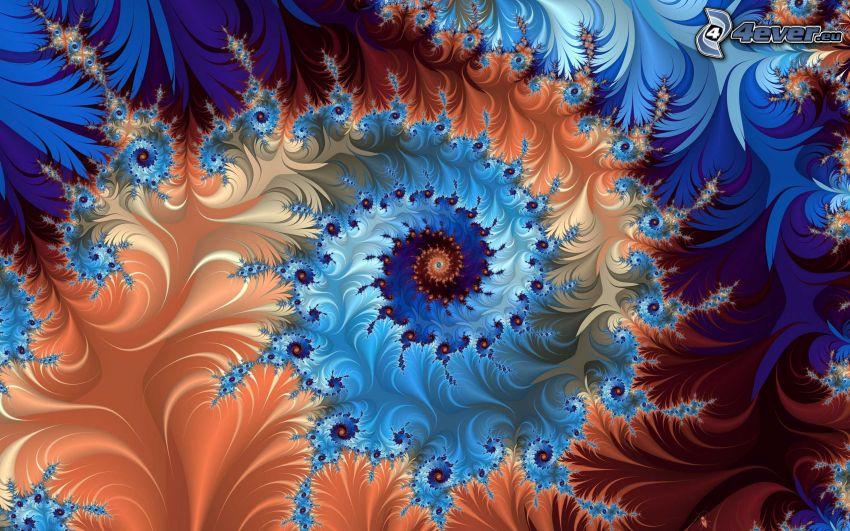 fractal, espiral