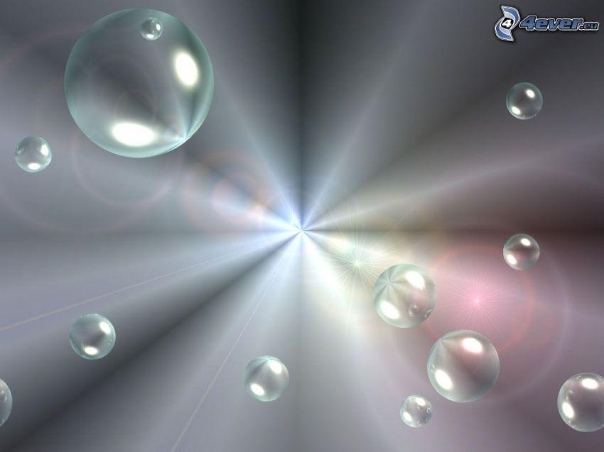 gotas, luz intensa