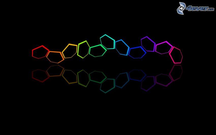 hexágonos, color