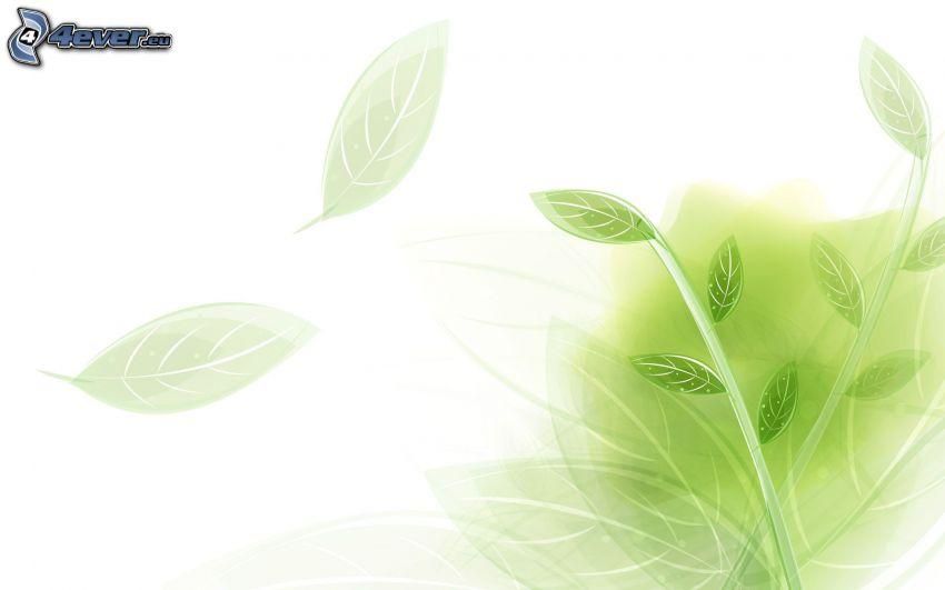 hojas abstractas