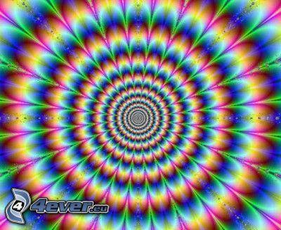 ilusión óptica, círculos
