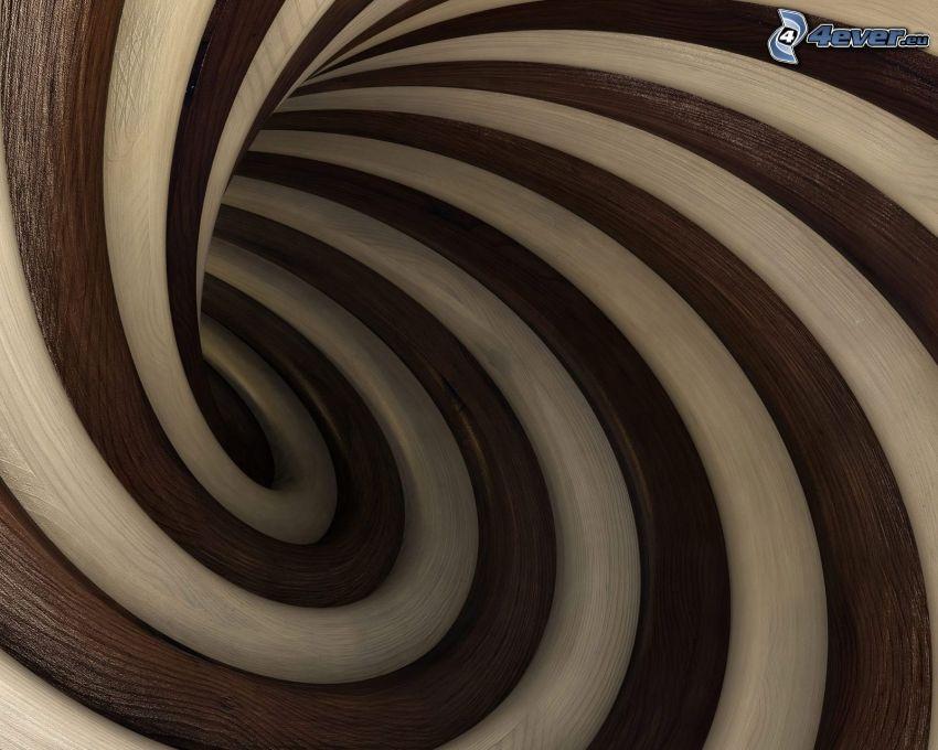 líneas, espiral
