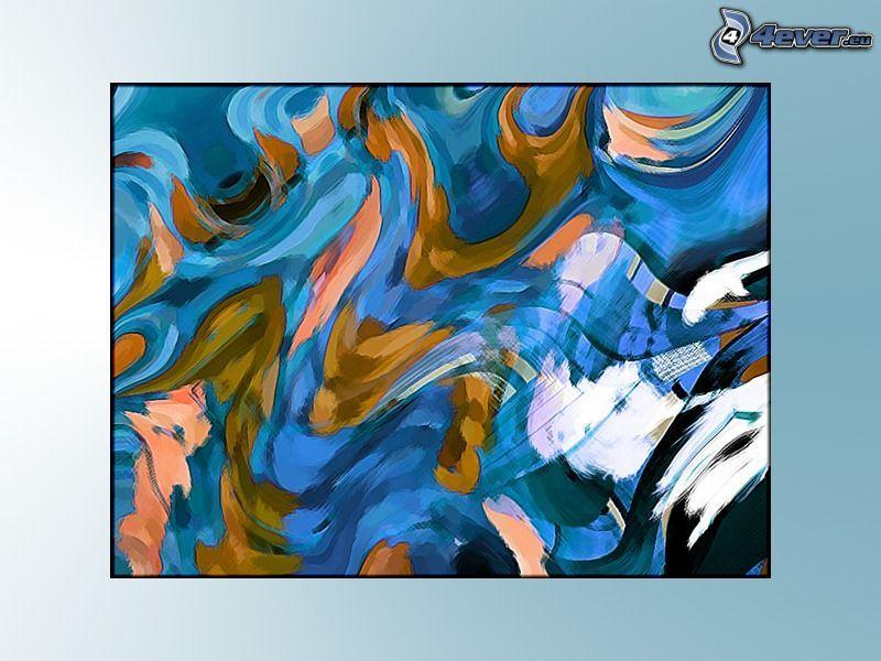Líneas abstractas, dibujo