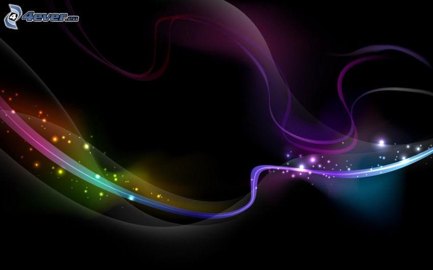 líneas de color, circuitos de colores