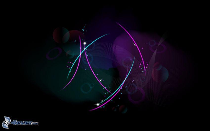 líneas de color, círculos