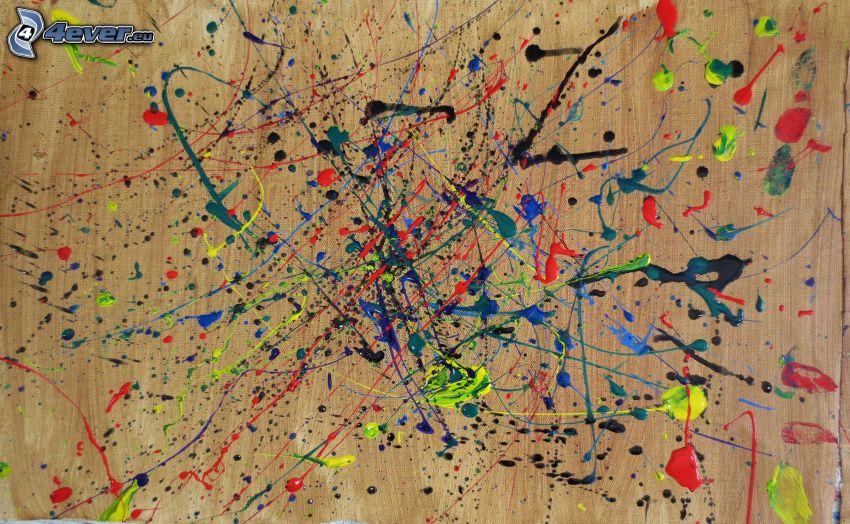 líneas de color, manchas