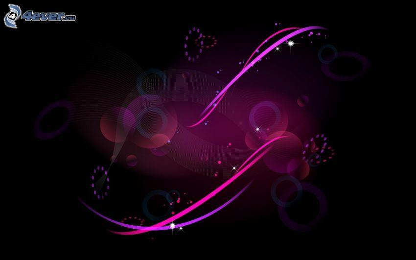 líneas de color rosa, círculos