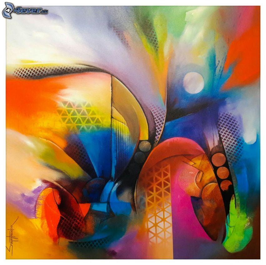 manchas de color, círculos, colores