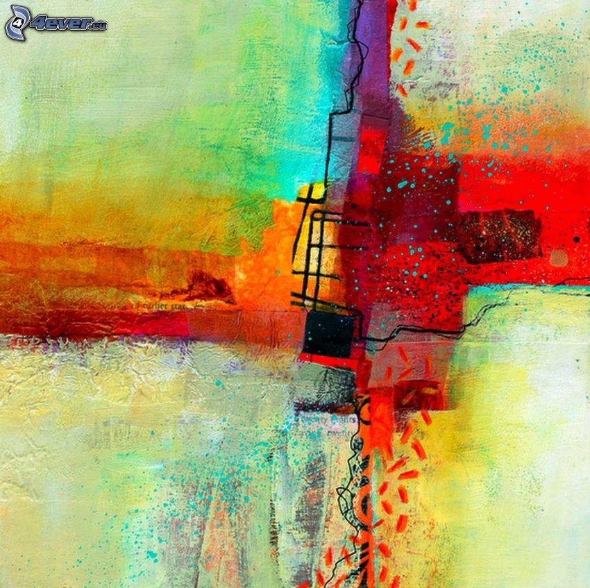 manchas de color, cuadrados