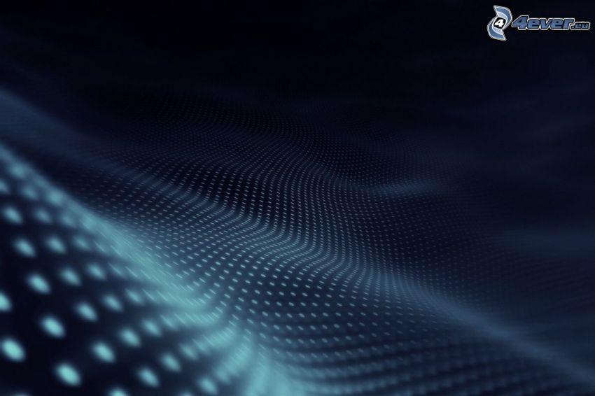 ondas abstractas, círculos