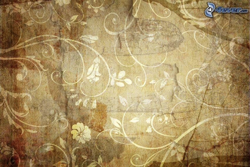 papel pintado, flores abstractas