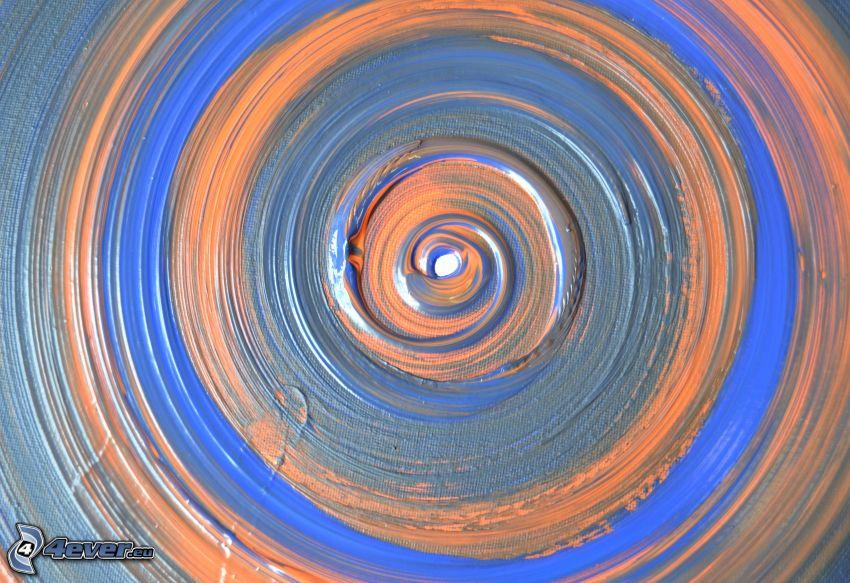 pintura abstracta, círculos