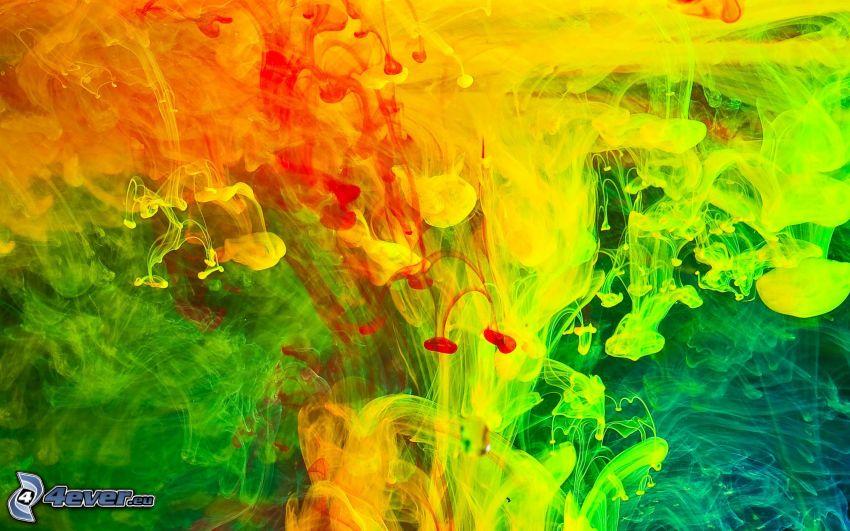 pintura abstracta, manchas de color