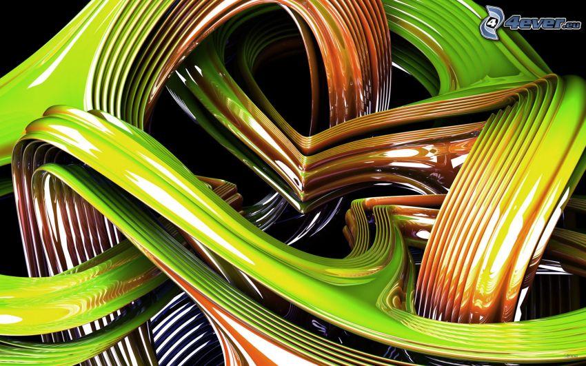 plástico, líneas verdes