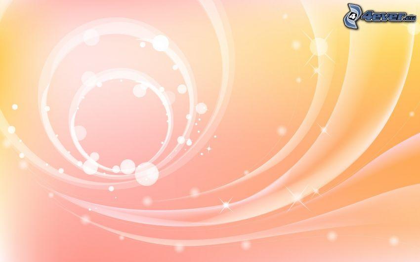 rayas blancas, círculos, fondo de color rosa