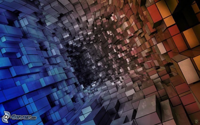 rectángulos abstractos, túnel