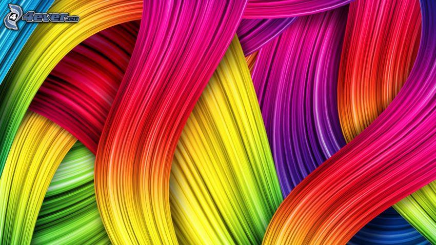 tiras de colores