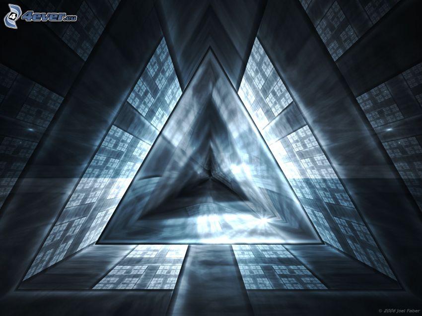 triángulo, corredor