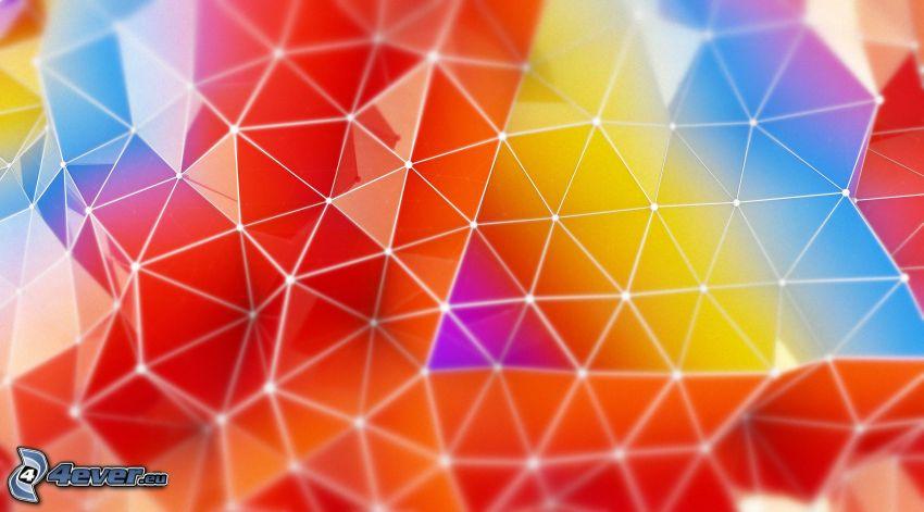 triángulos, colores