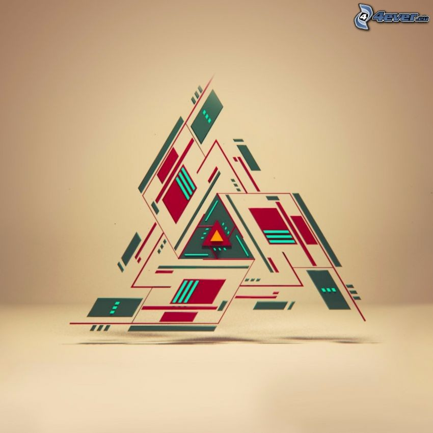 triángulos, dibujo de pantalla abstracto