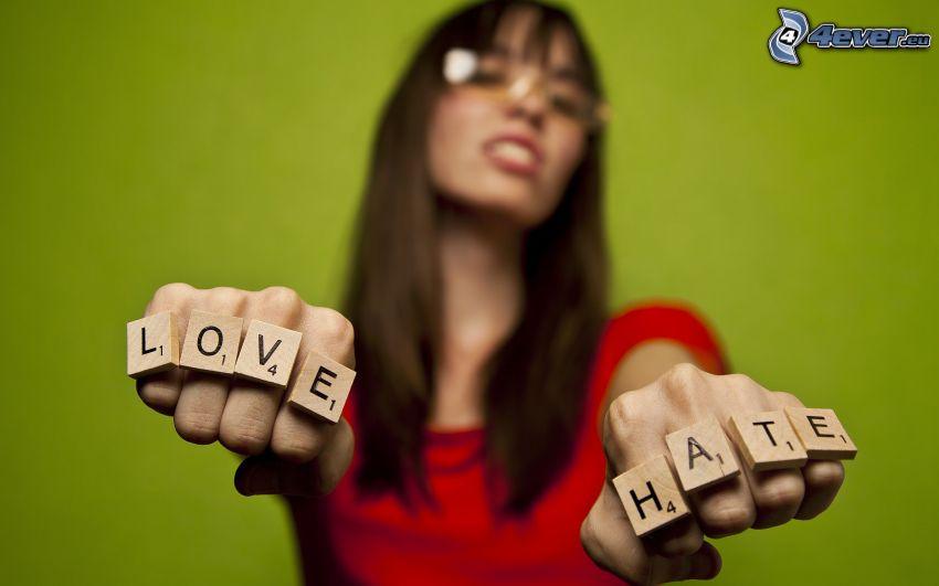 amor, odio, love, hate