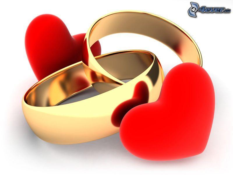 anillos, corazones