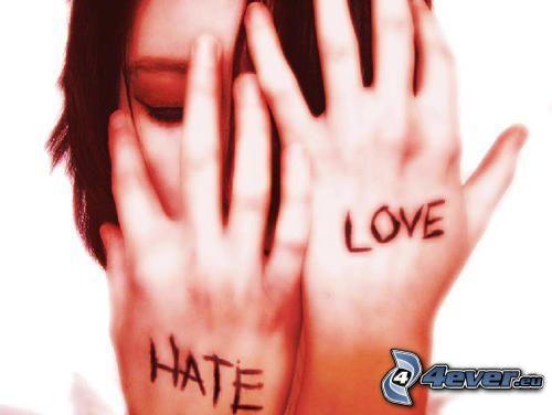 chica triste, odio, amor, hate, love