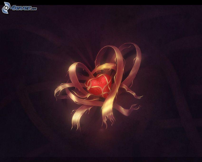 corazón, cinta