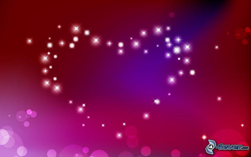 corazón, circuitos de colores