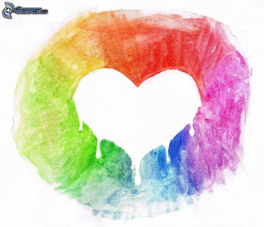 corazón, colores