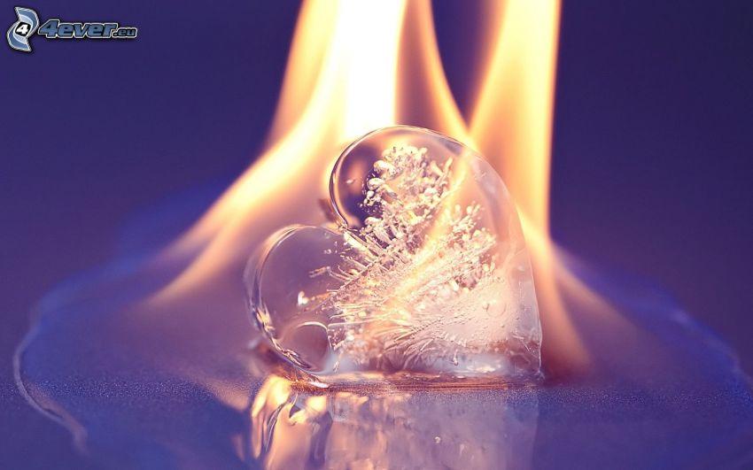 corazón, fuego