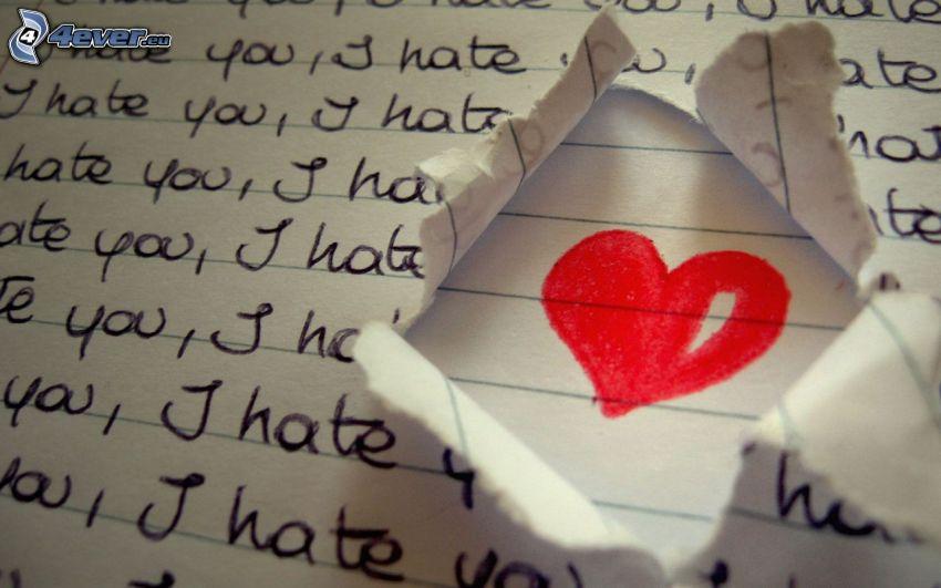 corazón, hate