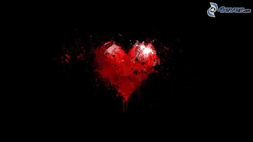 corazón, mancha