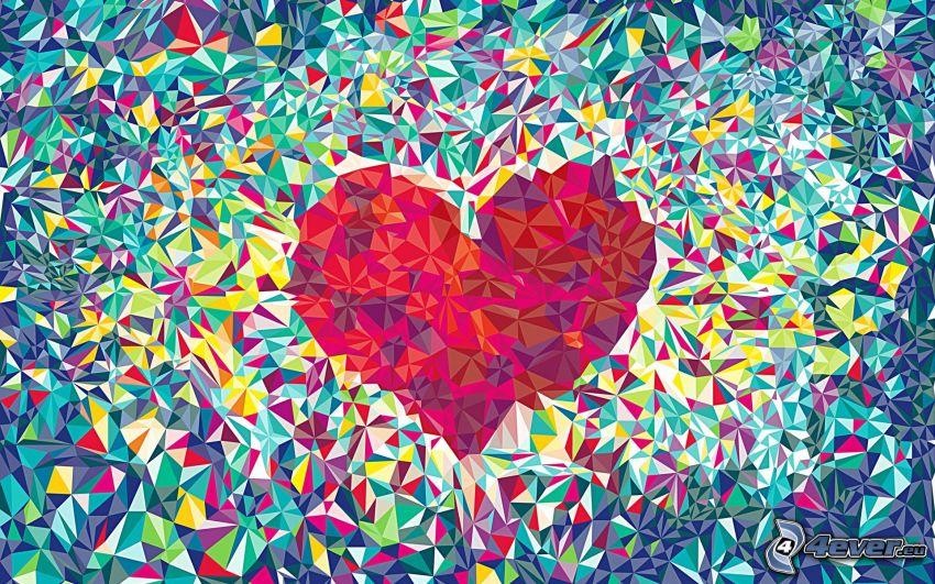 corazón, mosaico