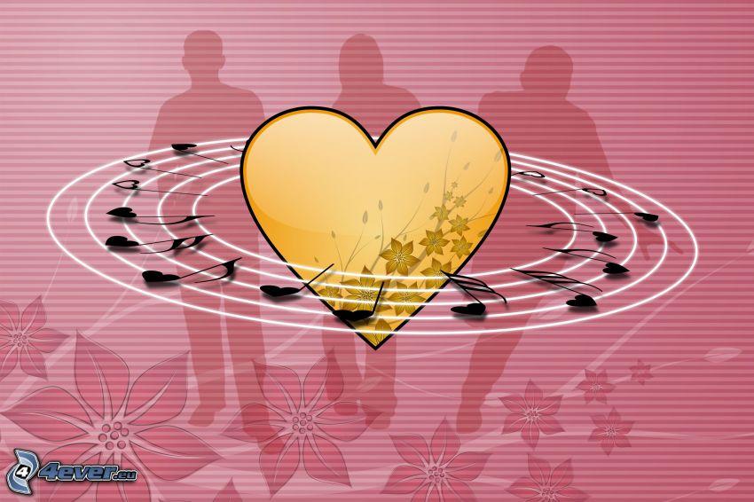 corazón, notas de música