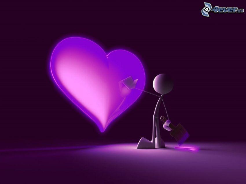 corazón, Personaje de dibujos animados