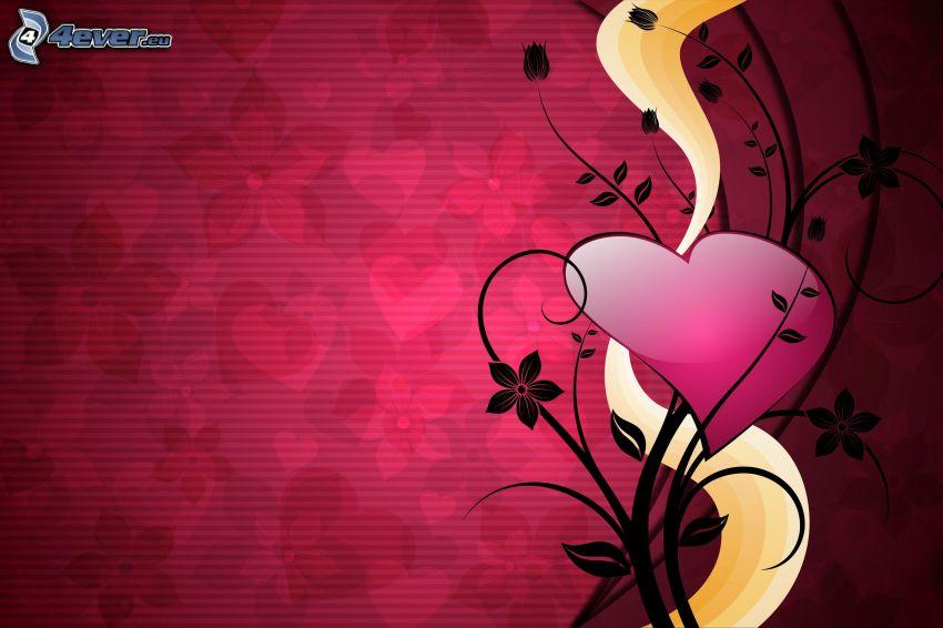 corazón, plántulas