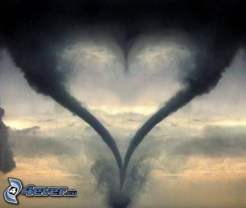 corazón, tornado