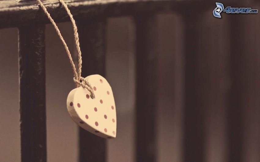 corazón, valla