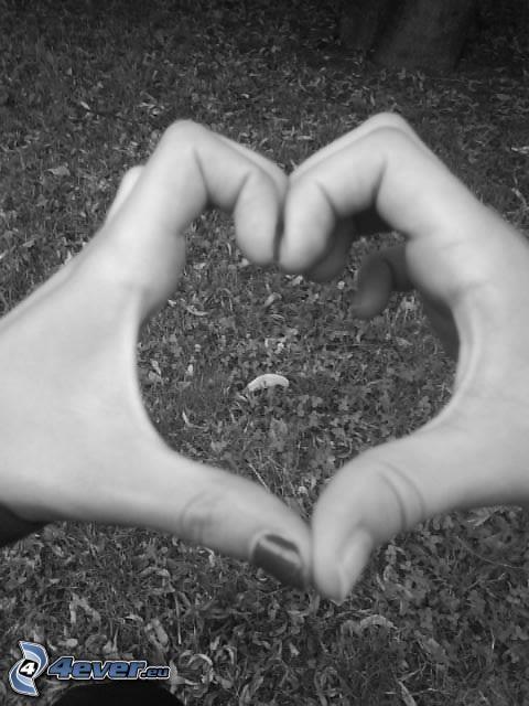 corazón de las manos, amistad, amor
