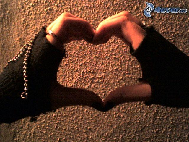 corazón de las manos, amor