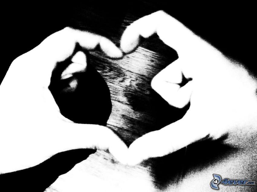 corazón de las manos