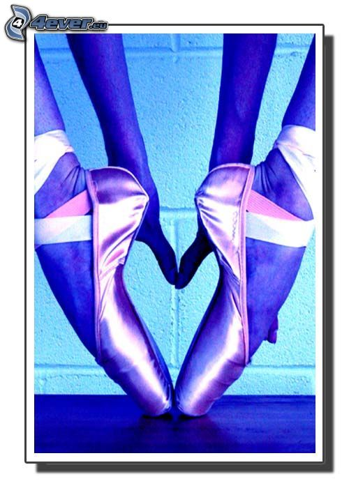 corazón de las piernas, bailarina, manos, bailarinas