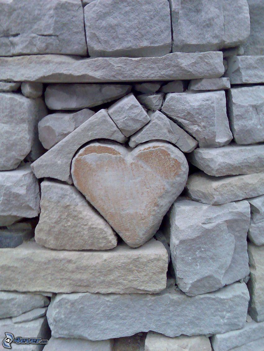 corazón de piedra, piedras