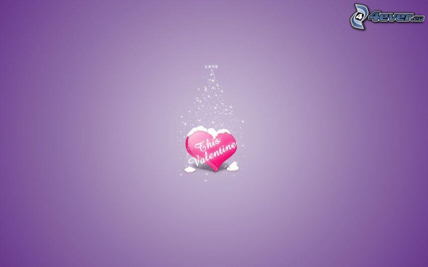 corazón de San Valentín, amor